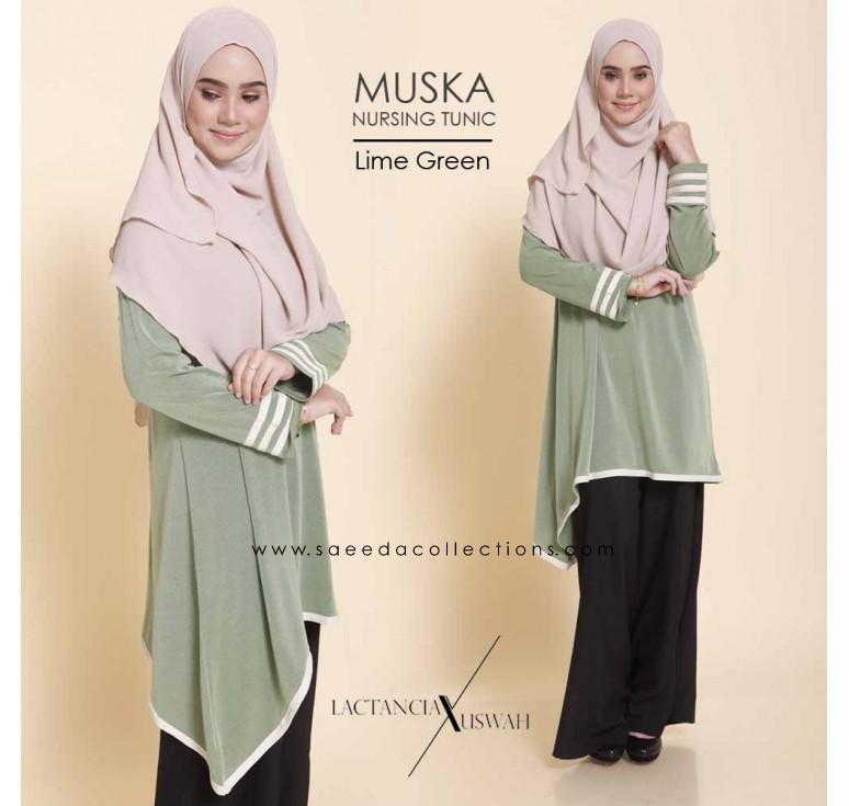 TUNIC MUSLIMAH RAYA 2016 MUSKA LIME GREEN
