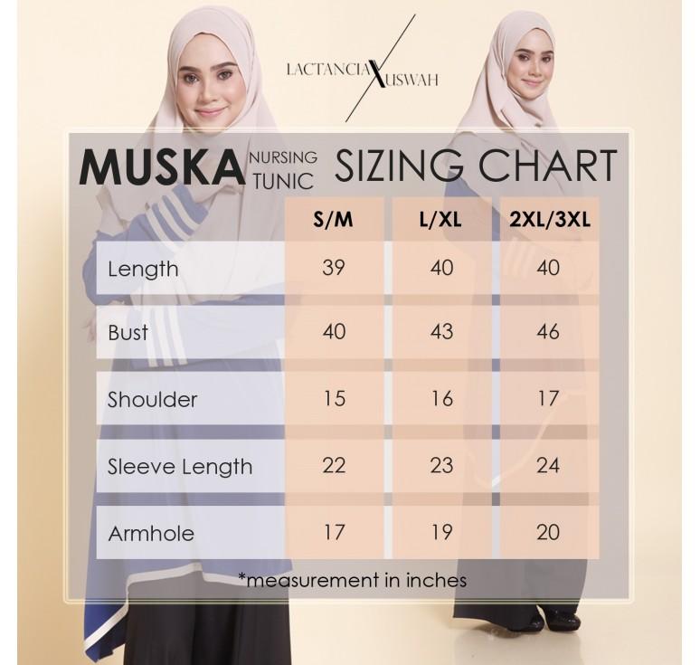 TUNIC MUSLIMAH RAYA 2016 MUSKA UKURAN