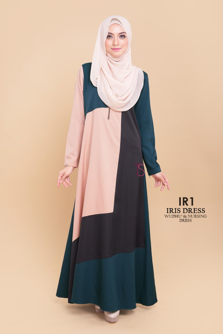 DRESS RAYA SEDONDON IRIS PLOY CREPE IR1 A