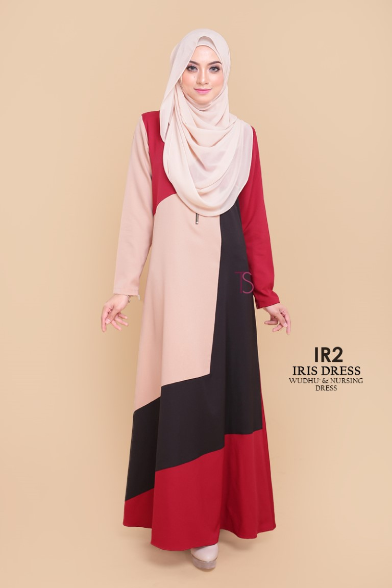 DRESS RAYA SEDONDON IRIS PLOY CREPE IR2 A