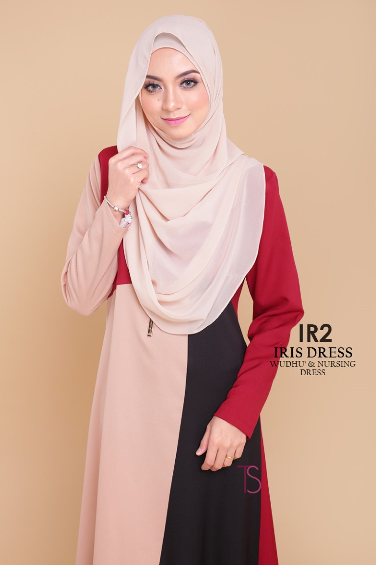 DRESS RAYA SEDONDON IRIS PLOY CREPE IR2 B