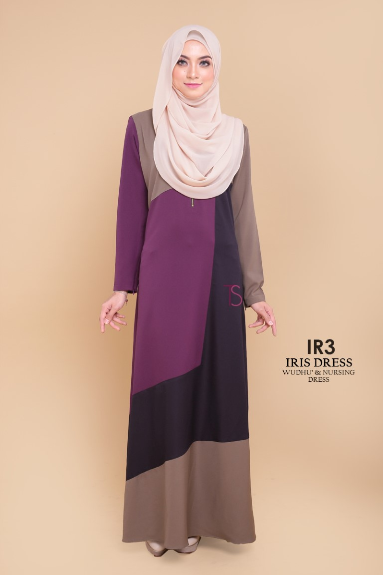 DRESS RAYA SEDONDON IRIS PLOY CREPE IR3 A