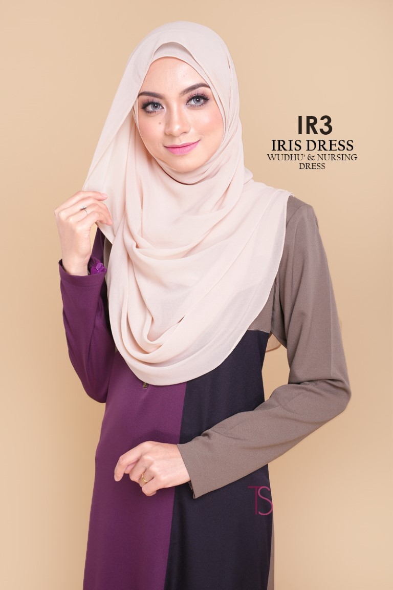 DRESS RAYA SEDONDON IRIS PLOY CREPE IR3 B