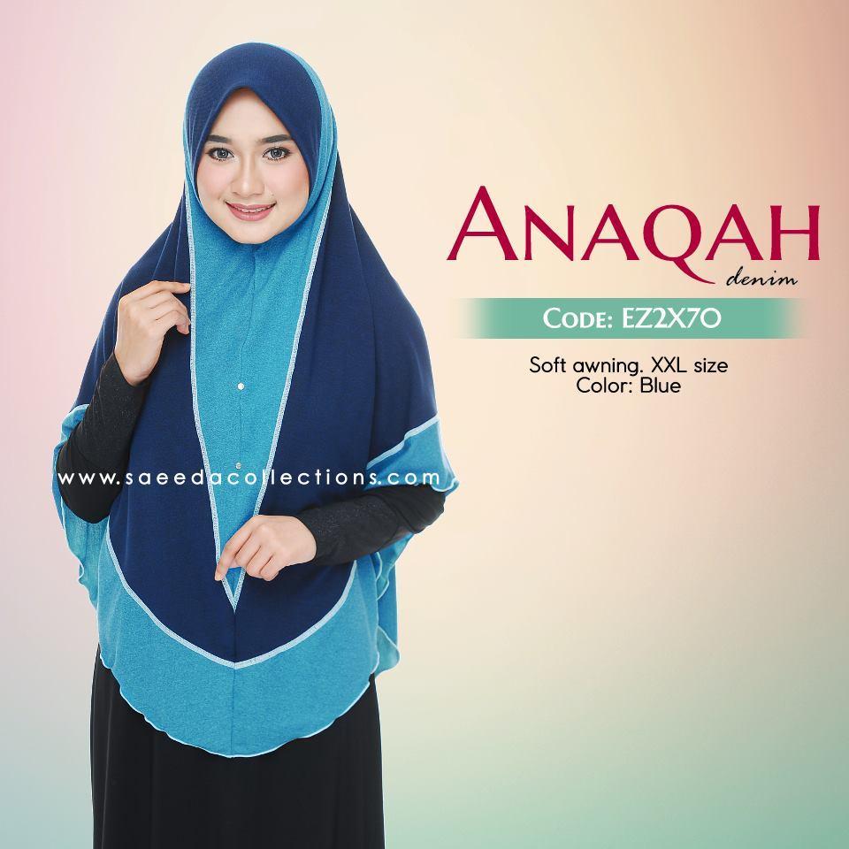 TUDUNG LABUH XXL DENIM ANAQAH EX2X70