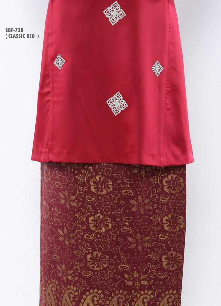 BAJU KURUNG PAHANG RAYA BELLEZA CLASSIC RED SBF73B B