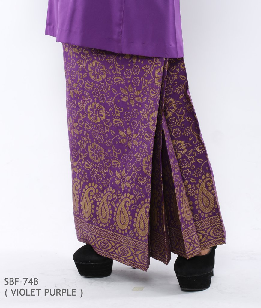 BAJU KURUNG PAHANG RAYA VIOLET PURPLE SBF74B C