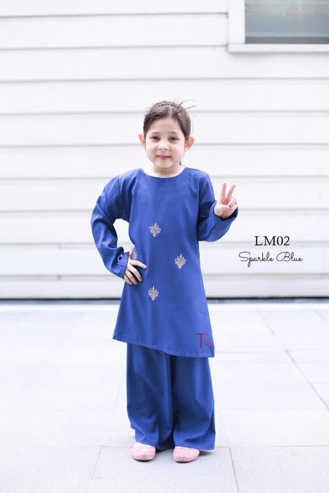 BAJU KURUNG SEDONDON RAYA 2016 PALOMA MUSTARD SNORKLE BLUE B