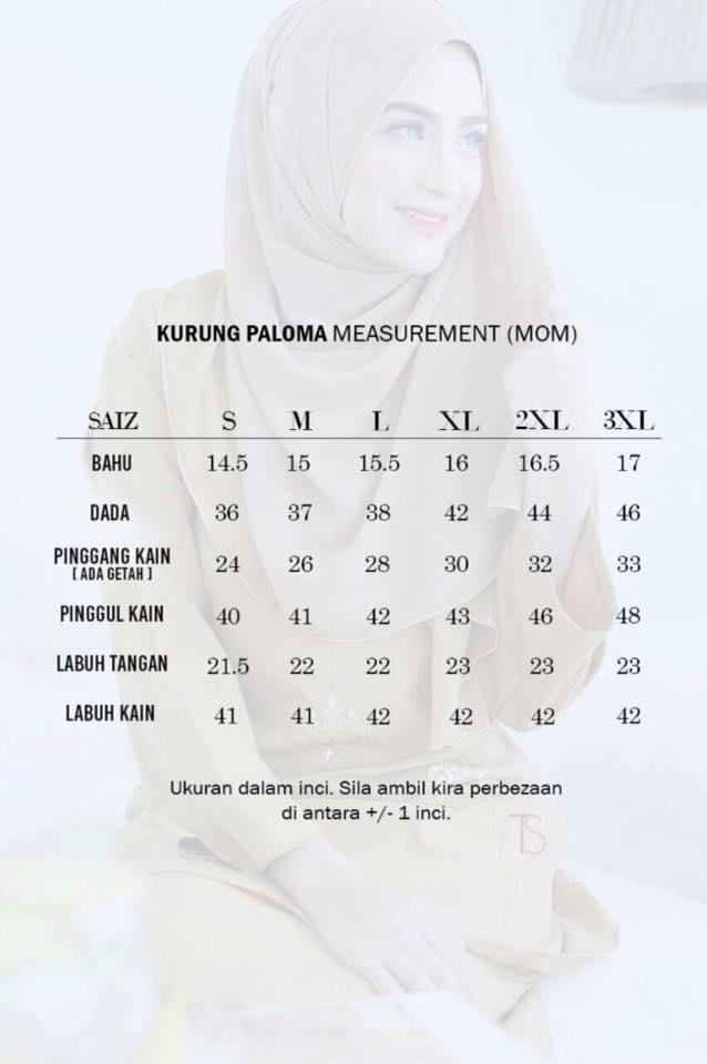 BAJU KURUNG SEDONDON RAYA 2016 PALOMA UKURAN A