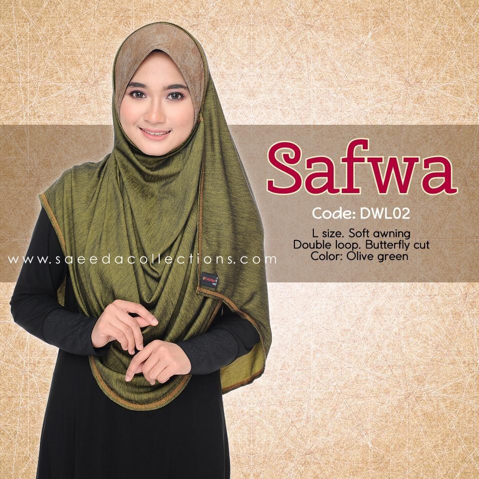 DOUBLE LOOP SHAWL RAYA DENIM SAFWA SAIZ L DWL02