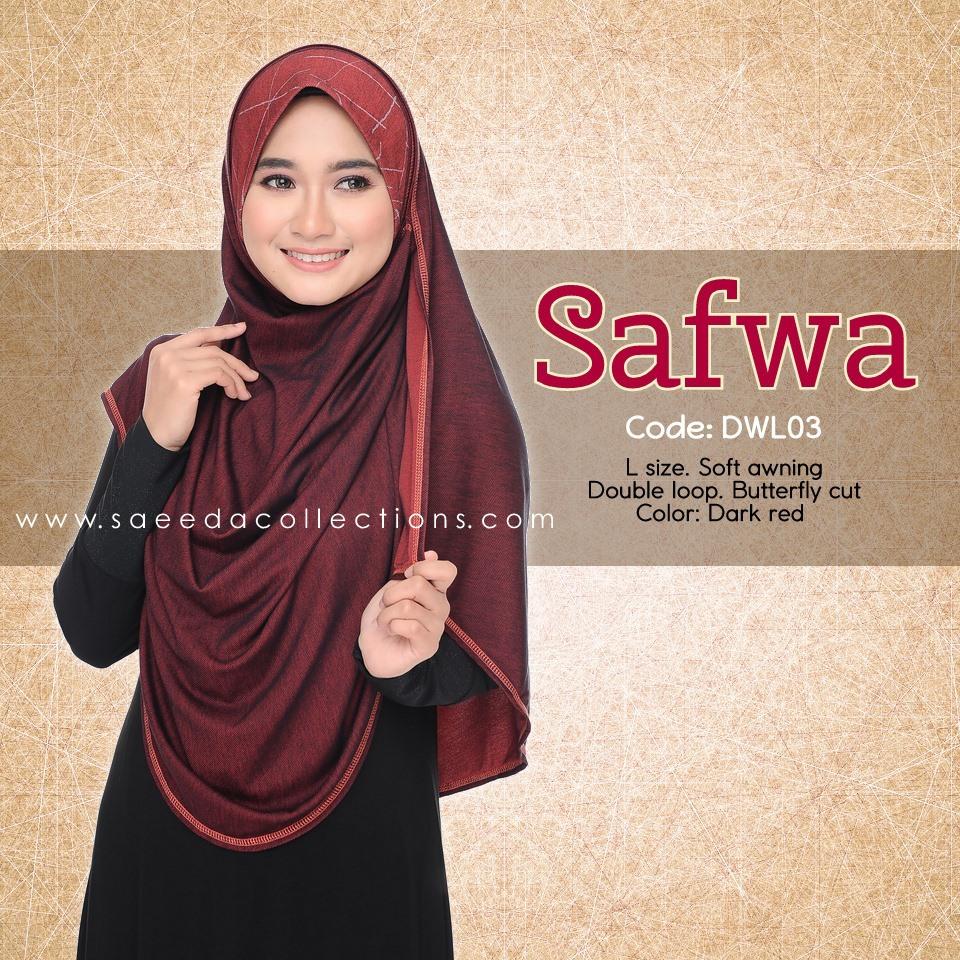 DOUBLE LOOP SHAWL RAYA DENIM SAFWA SAIZ L DWL03