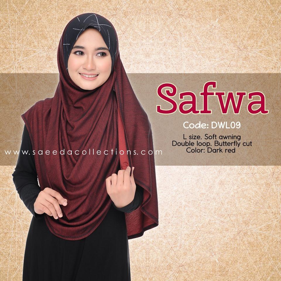 DOUBLE LOOP SHAWL RAYA DENIM SAFWA SAIZ L DWL09