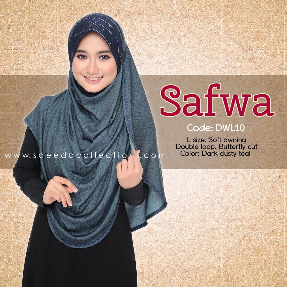 DOUBLE LOOP SHAWL RAYA DENIM SAFWA SAIZ L DWL10