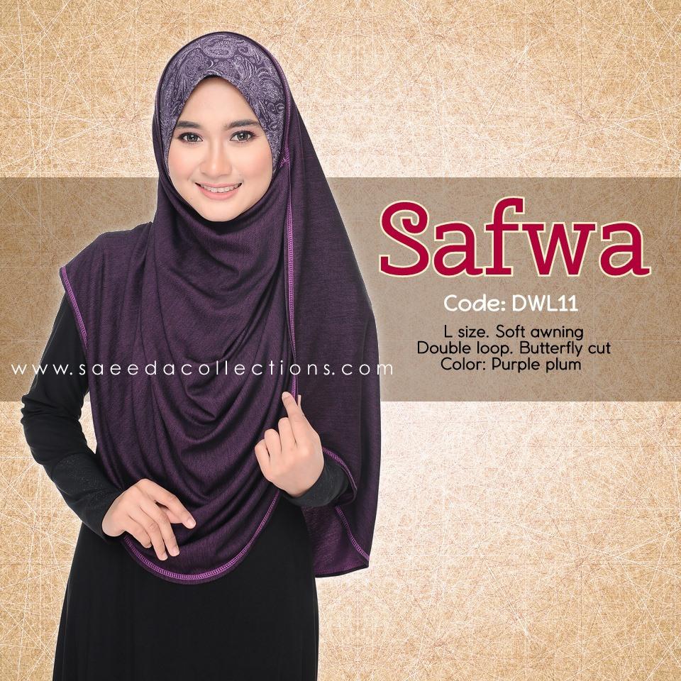 DOUBLE LOOP SHAWL RAYA DENIM SAFWA SAIZ L DWL11