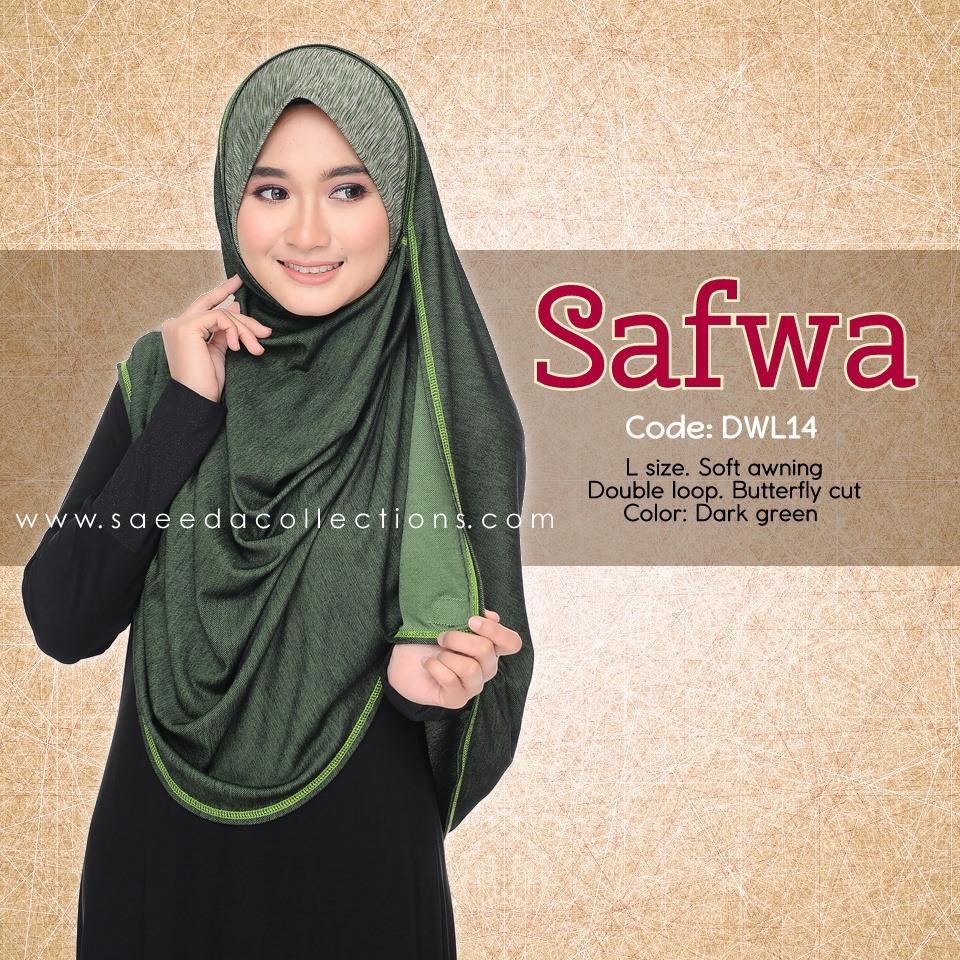 DOUBLE LOOP SHAWL RAYA DENIM SAFWA SAIZ L DWL14