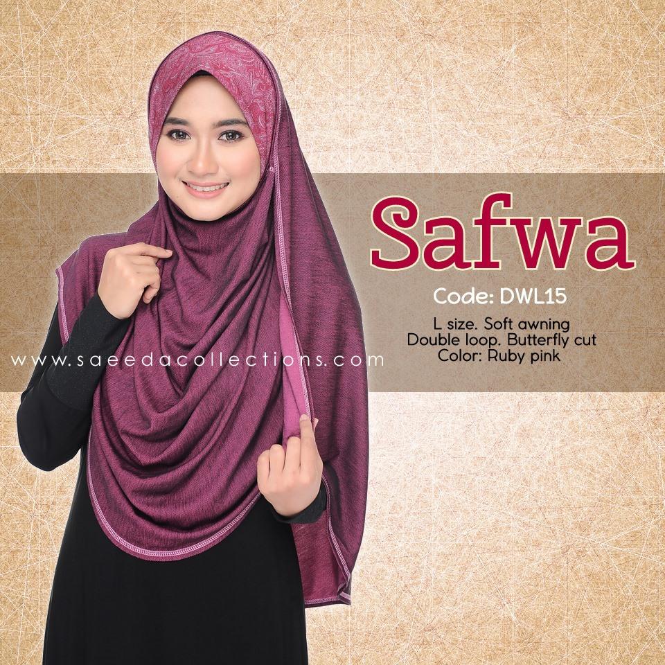 DOUBLE LOOP SHAWL RAYA DENIM SAFWA SAIZ L DWL15