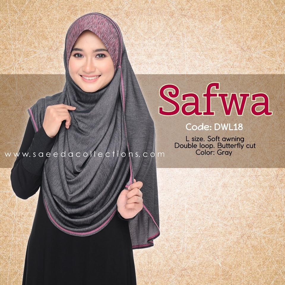 DOUBLE LOOP SHAWL RAYA DENIM SAFWA SAIZ L DWL17