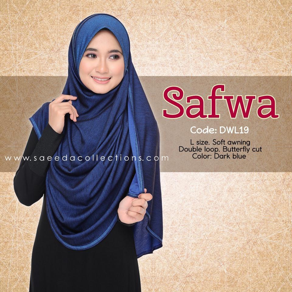 DOUBLE LOOP SHAWL RAYA DENIM SAFWA SAIZ L DWL19