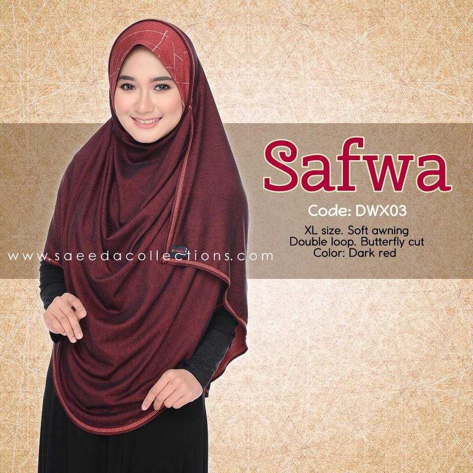 DOUBLE LOOP SHAWL RAYA DENIM SAFWA SAIZ XL DWX03