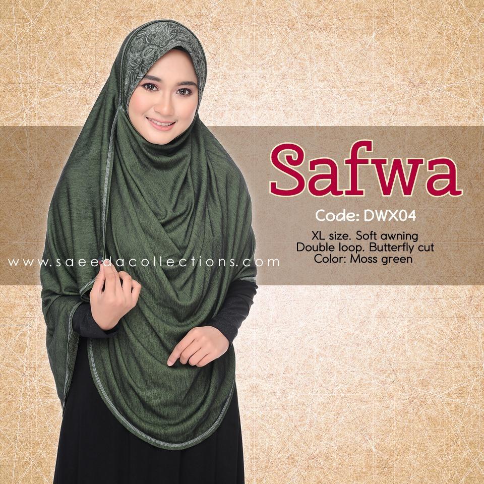 DOUBLE LOOP SHAWL RAYA DENIM SAFWA SAIZ XL DWX04