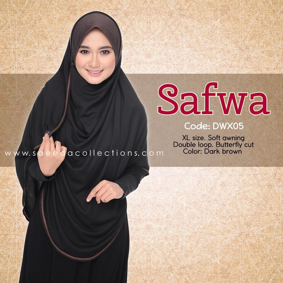 DOUBLE LOOP SHAWL RAYA DENIM SAFWA SAIZ XL DWX05