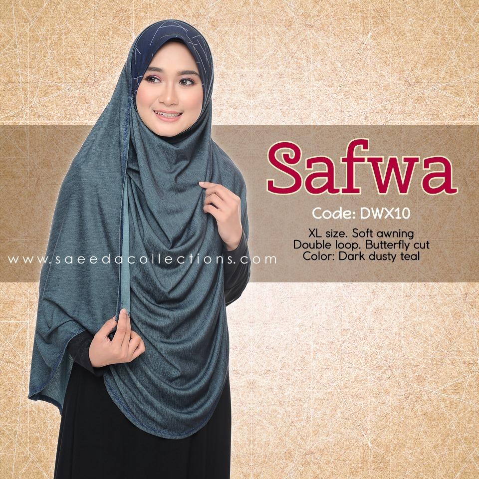 DOUBLE LOOP SHAWL RAYA DENIM SAFWA SAIZ XL DWX10