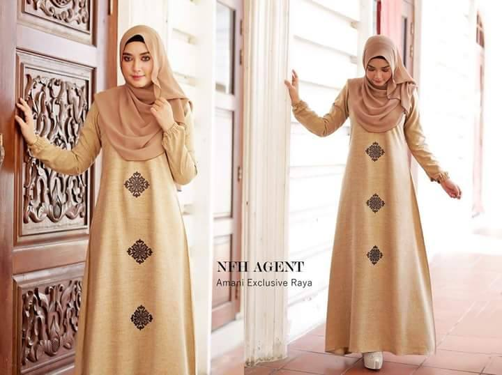 DRESS RAYA 2016 THAI SILK AMANI GOLD