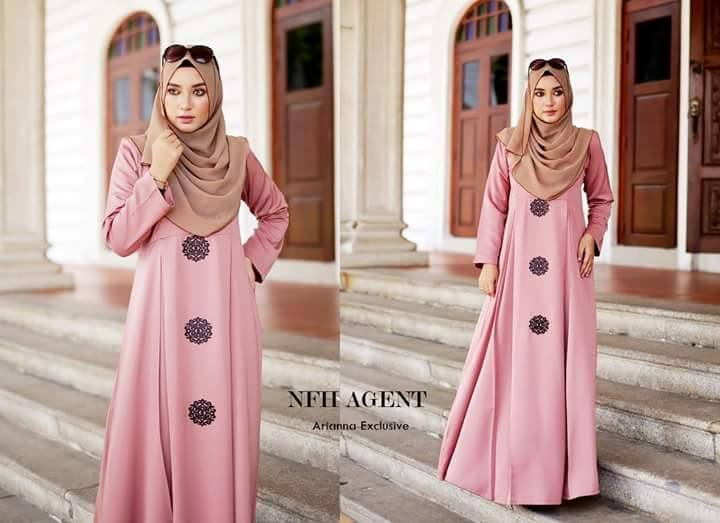 DRESS SILK RAYA 2016 ARIANNA DUSTY PURPLE