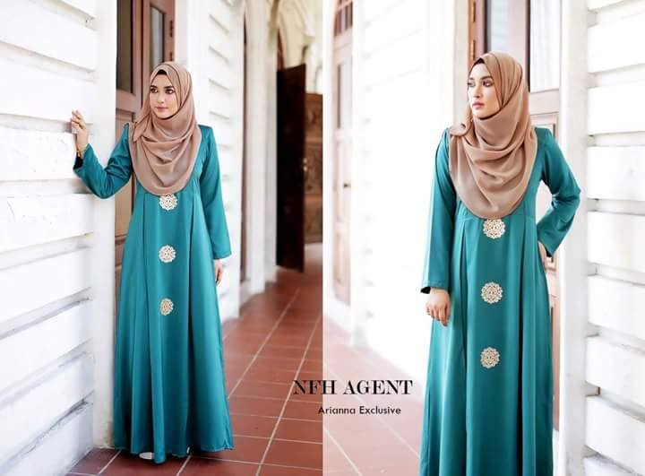 DRESS SILK RAYA 2016 ARIANNA EMERLAD GREEN