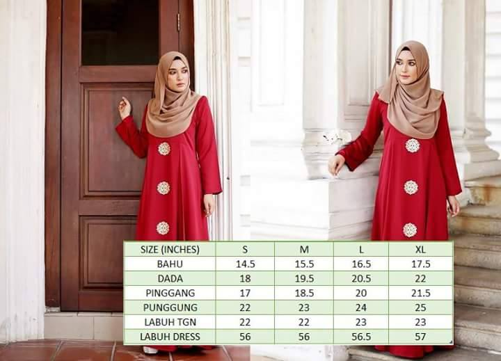 DRESS SILK RAYA 2016 ARIANNA UKURAN