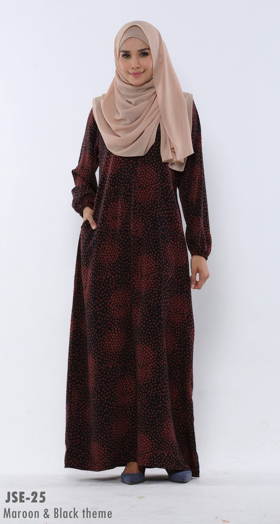 JUBAH RAYA 2016 VISCOSE SWEET ELEANOR JSE11A
