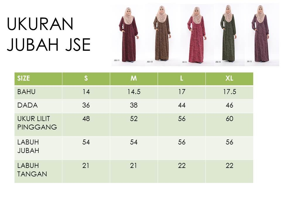 JUBAH RAYA 2016 VISCOSE SWEET ELEANOR UKURAN