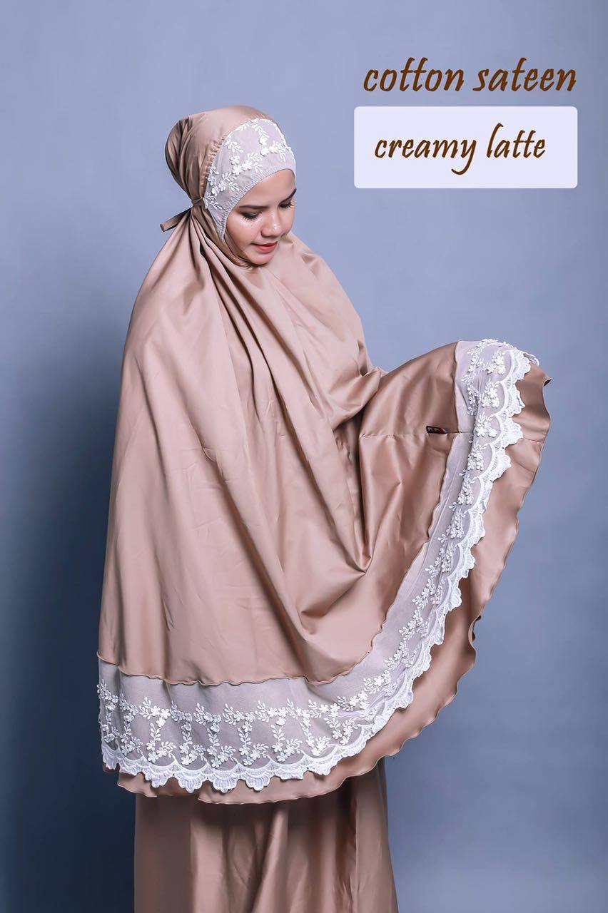 TELEKUNG RENDA RAYA COTTON SATEEN CREAMY LATTE