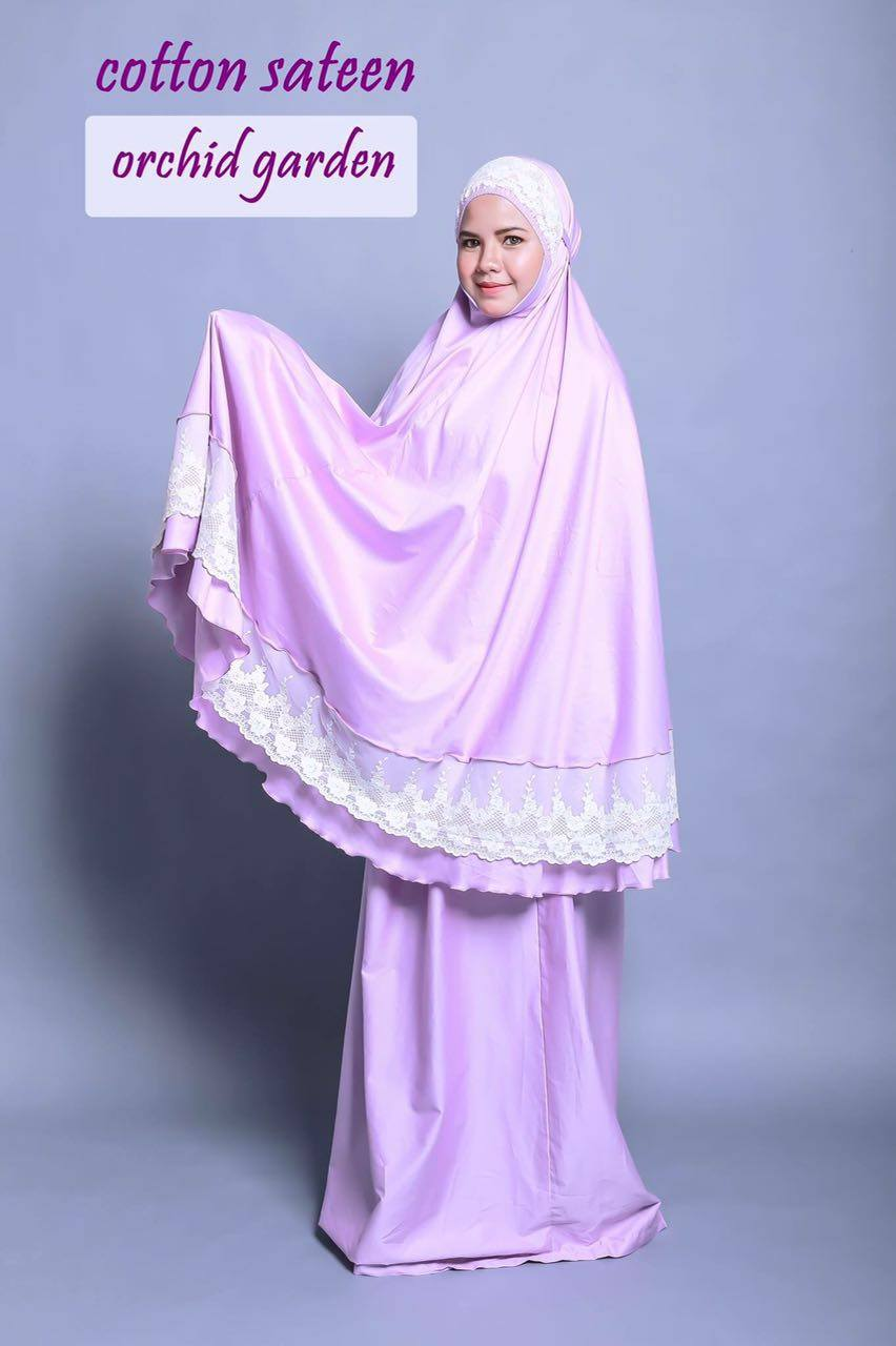 TELEKUNG RENDA RAYA COTTON SATEEN ORCHID GREEN B