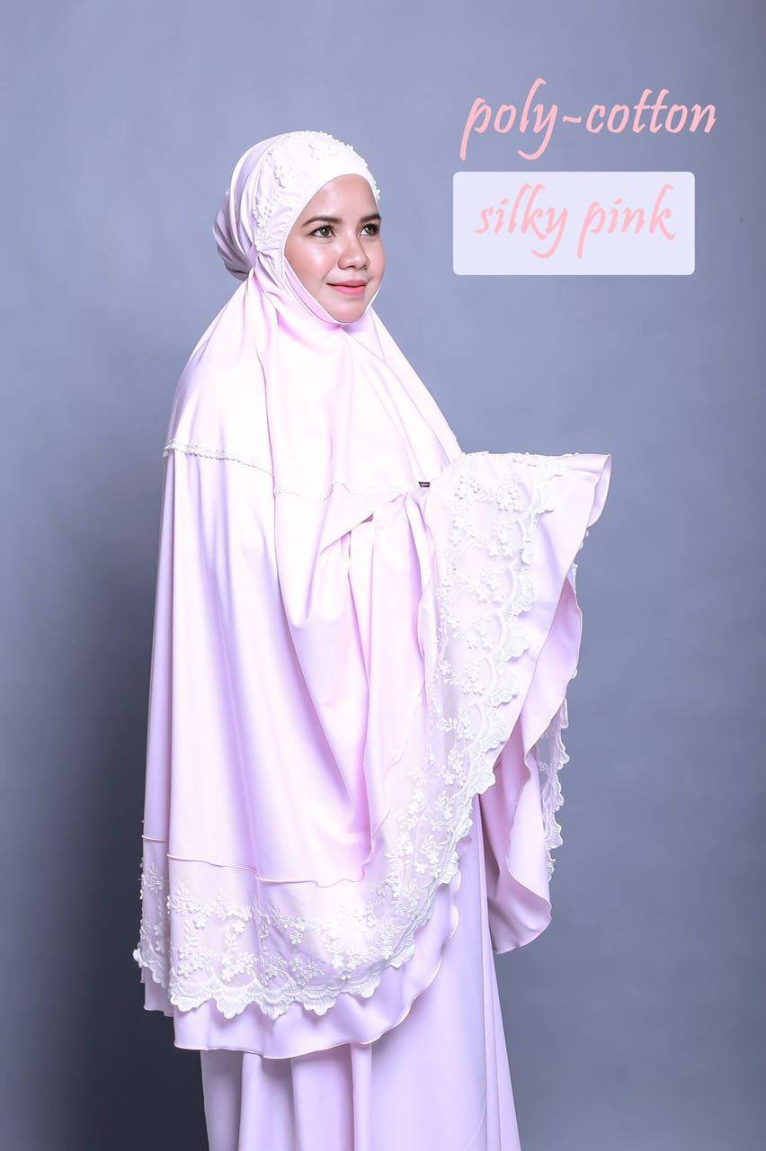 TELEKUNG RENDA RAYA POLLY COTTON SILKY PINK