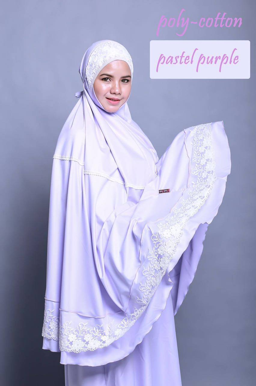 TELEKUNG RENDA RAYA POLY COTTON PASTEL PURPLE