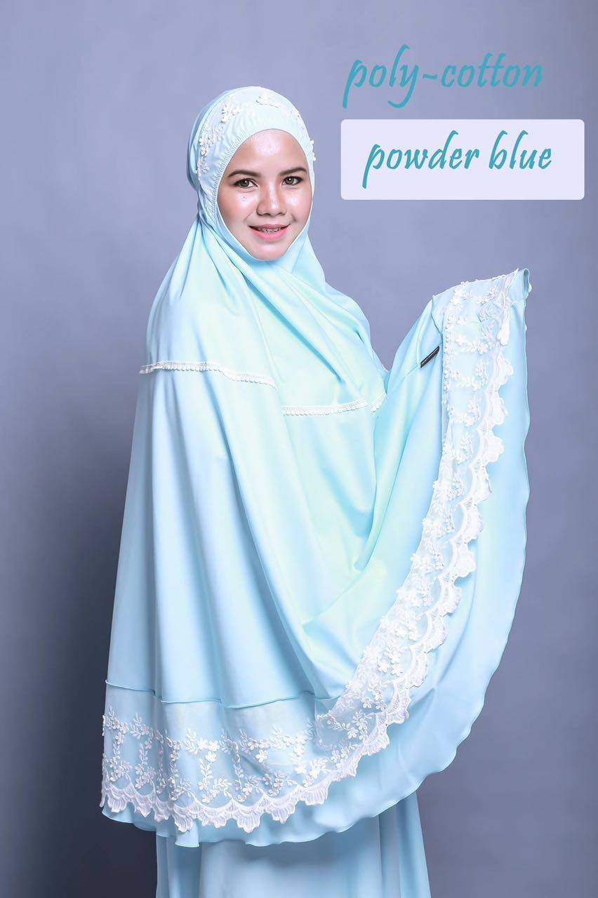 TELEKUNG RENDA RAYA POLY COTTON POWDER BLUE