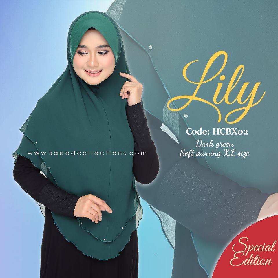 TUDUNG CHIFFON RAYA LILY SAIZ XL SPECIAL EDITION HCBX02