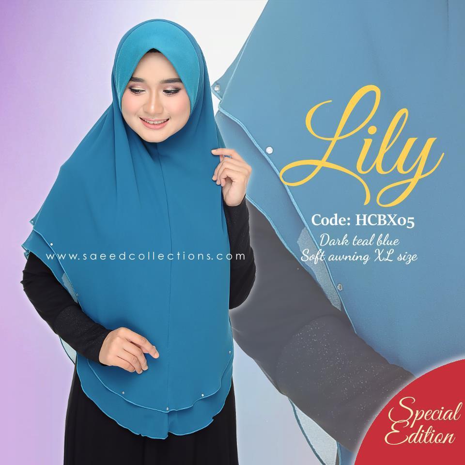 TUDUNG CHIFFON RAYA LILY SAIZ XL SPECIAL EDITION HCBX05