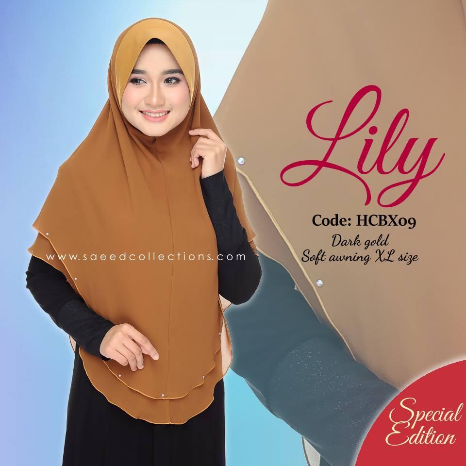 TUDUNG CHIFFON RAYA LILY SAIZ XL SPECIAL EDITION HCBX09