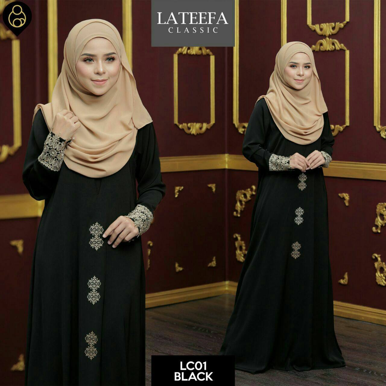 DRESS LATEEFA FURSAN LC01 BLACK