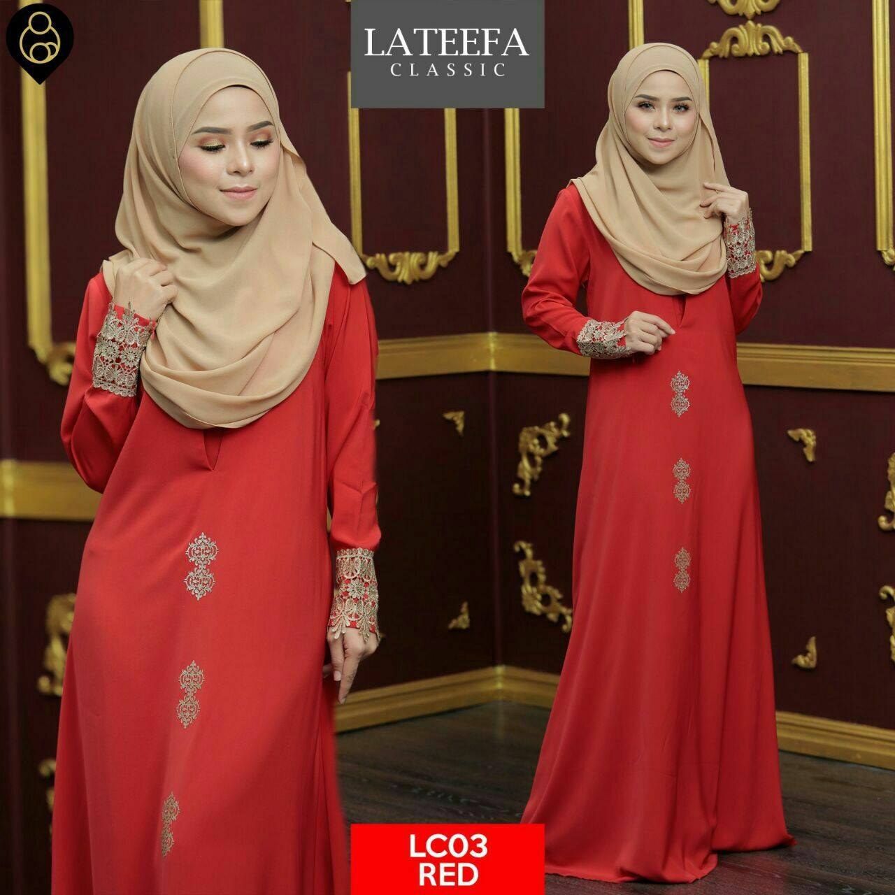 DRESS LATEEFA FURSAN LC03 RED