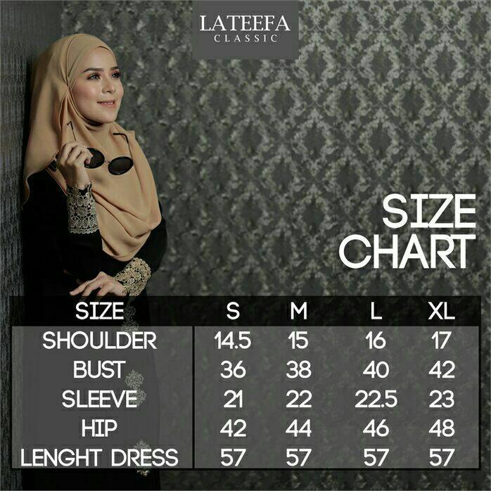 DRESS LATEEFA FURSAN UKURAN