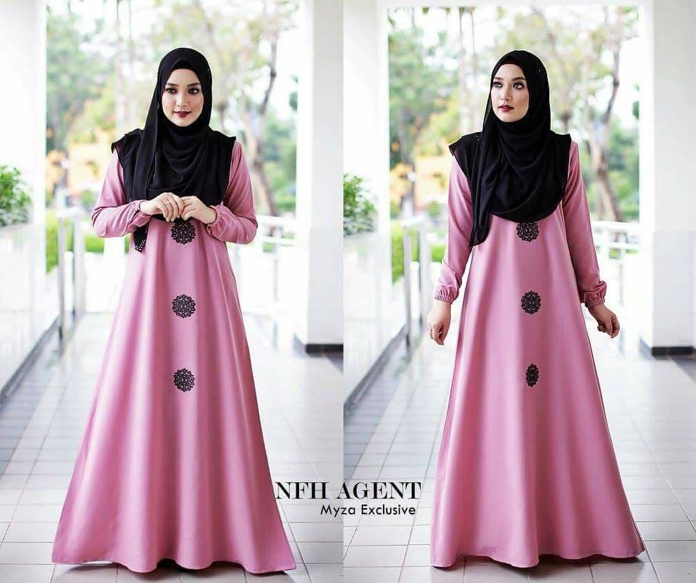 DRESS MOSS CREPE MYZA DUSTY PINK