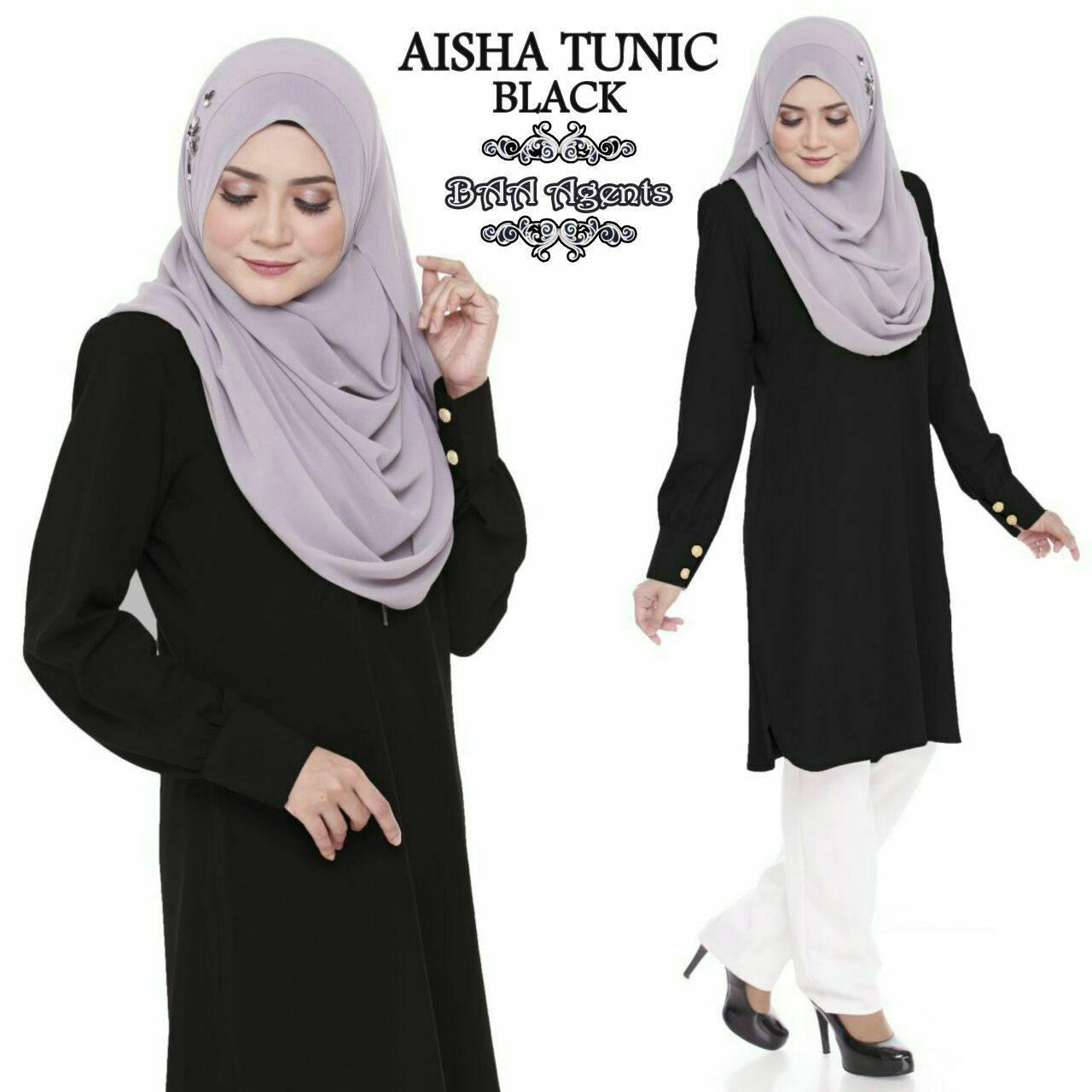 TUNIC MUSLIMAH AISHA BLACK
