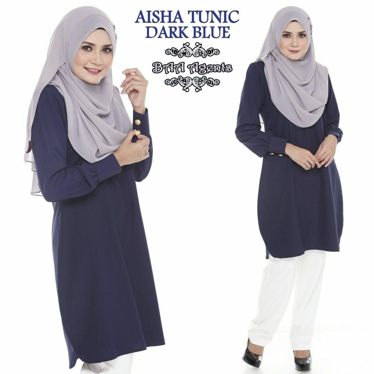 TUNIC MUSLIMAH AISHA DARK BLUE