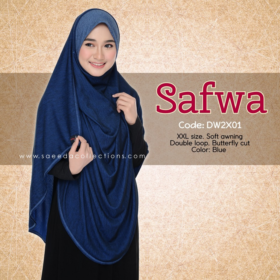 DOUBLE LOOP SHAWL DENIM LABUH XXL SAFWA DW2X01
