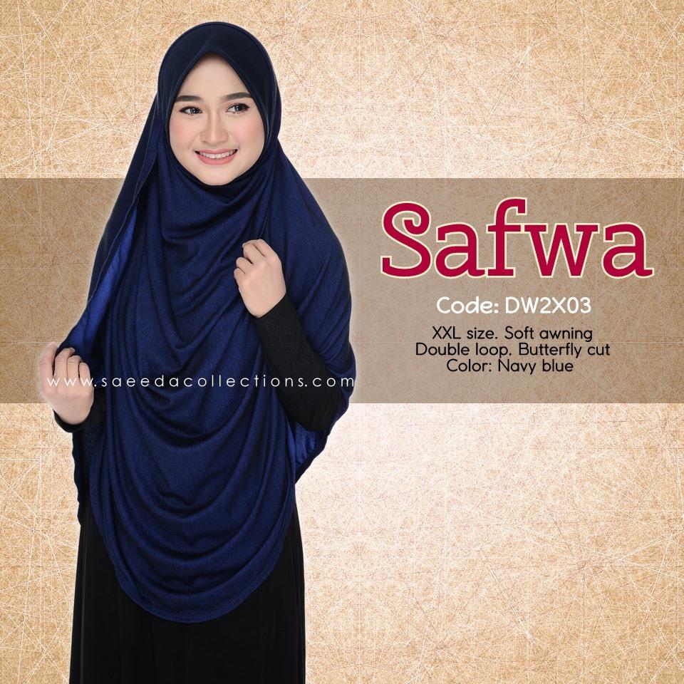 DOUBLE LOOP SHAWL DENIM LABUH XXL SAFWA DW2X03
