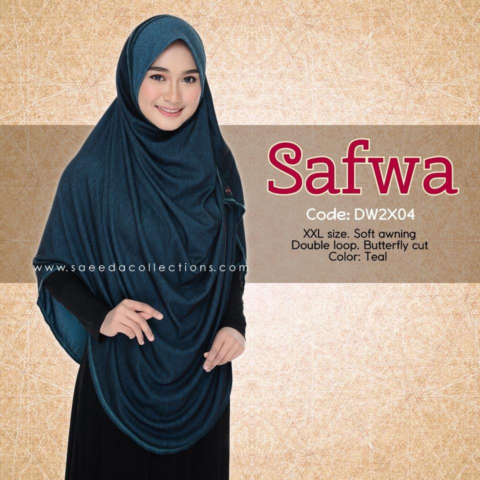 DOUBLE LOOP SHAWL DENIM LABUH XXL SAFWA DW2X04
