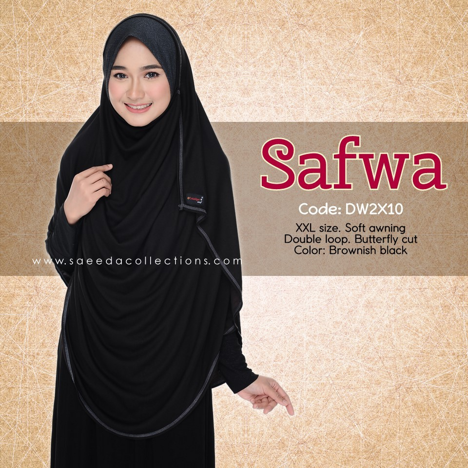 DOUBLE LOOP SHAWL DENIM LABUH XXL SAFWA DW2X10