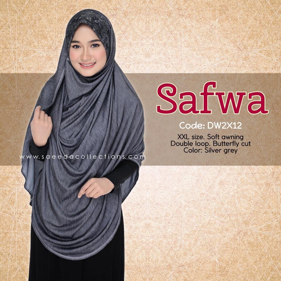DOUBLE LOOP SHAWL DENIM LABUH XXL SAFWA DW2X12